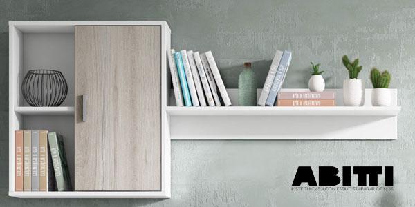 Mueble de salón comedor Abitti de 4 módulos en color blanco y shamal chollazo en eBay