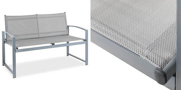 muebles de jardín acero malla transpirable con genial relación calidad-precio