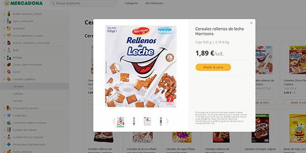 nueva página web de Mercadona intuitiva y con descripción de todos los productos