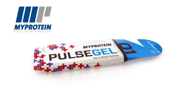 Pack 12 unidades de Gel Pre-Entrenamiento MyProtein Sabor Tormenta Tropical chollo en Amazon