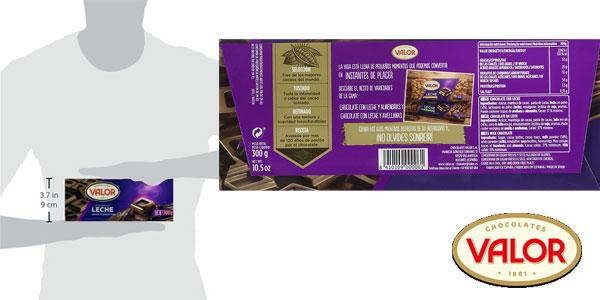 Pack de 20 tabletas de chocolate con leche Valor de 300 gr cada una chollo en Amazon