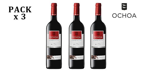 Pack de 3 botellas OCHOA Vino Tinto Crianza Tempranillo barato en Amazon