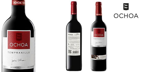 Pack de 3 botellas OCHOA Vino Tinto Crianza Tempranillo chollo en Amazon