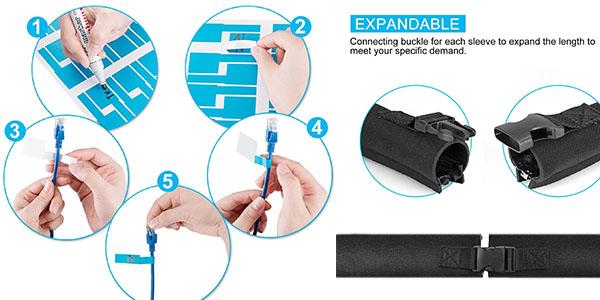 pack 4 fundas para ocultar cables Agptek con gran relación calidad-precio