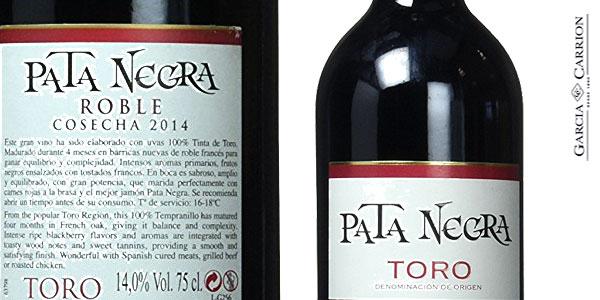 Pack de 6 Botellas de Vino tinto Pata Negra Roble D.O Toro chollo en Amazon
