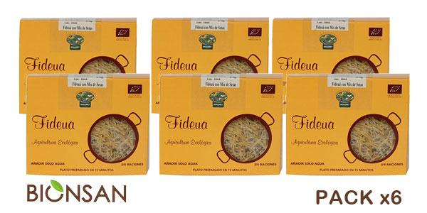 Pack de 6 Paquetes de 275 gr Bionsan Fideuá con Mix de Setas barato en Amazon