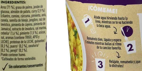 Pack de 8 envases Knorr Pot Arroz al Curry chollazo en Amazon