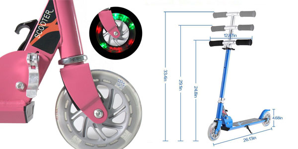 Patinete Honkid de aluminio con 2 ruedas tipo Scooter chollazo en Amazon