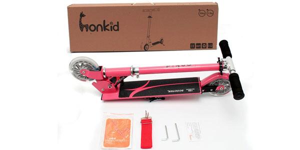 Patinete Honkid de aluminio con 2 ruedas tipo Scooter oferta en Amazon