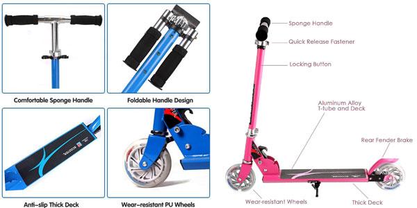 Patinete Honkid de aluminio con 2 ruedas tipo Scooter chollo en Amazon