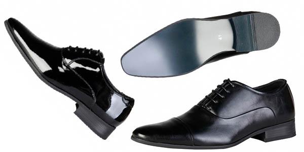 Pierre Cardin zapatos de punta afilada de vestir en piel y charol chollo