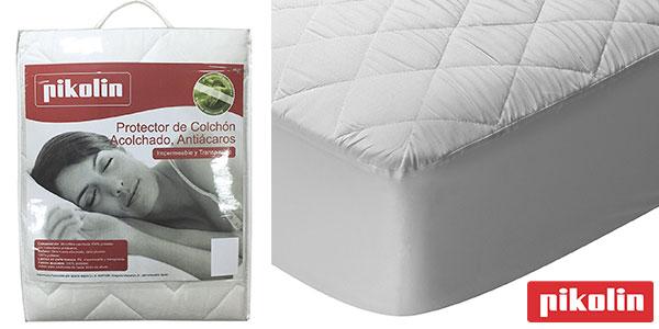 Protector de colchón Pikolin Home acolchado de fibra impermeable antiácaros barato