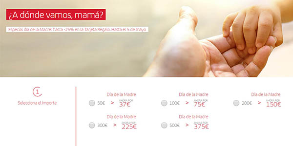 promoción tarjeta regalo vuelos Iberia