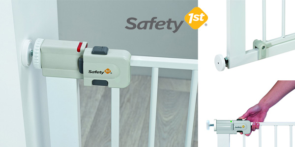 Barrera puerta de seguridad Safety 1st Easy Close para niños y mascotas chollazo en Amazon