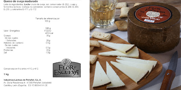 Queso 1 kg Flor de Esgueva Viejo de leche cruda de oveja chollo en Amazon