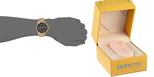 Reloj cronógrafo Invicta Specialty 14878 chapado en oro para hombre chollazo en Amazon