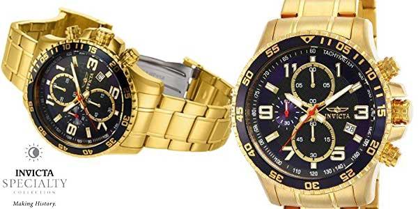 Reloj cronógrafo Invicta Specialty 14878 chapado en oro para hombre barato en Amazon