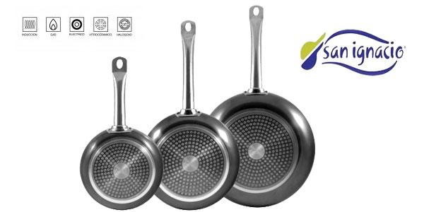 Chollazo Pack 3 Sartenes San Ignacio de aluminio prensado