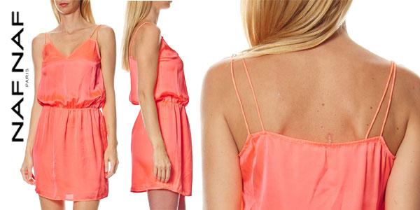 Vestido de tirantes Naf Naf Lafliro efecto satinado barato en eBay