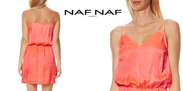 Vestido de tirantes Naf Naf Lafliro efecto satinado chollo en eBay