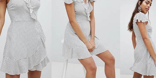 vestido de verano Missguided de estampado de lunares en oferta