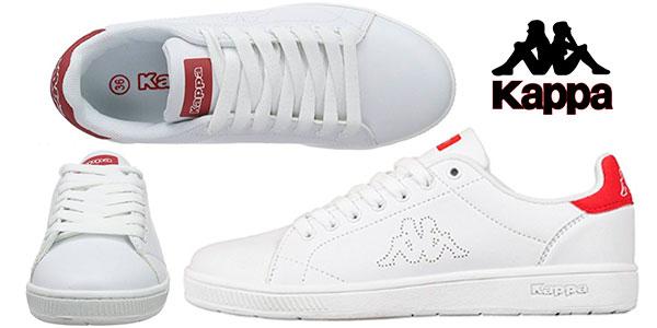 Zapatillas deportivas Kappa Court Footwear unisex de color blanco/rojo baratas