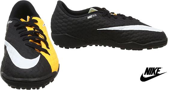 Zapatillas de fútbol unisex Nike Jr. Hypervenomx Phelon III TF chollazo en Amazon