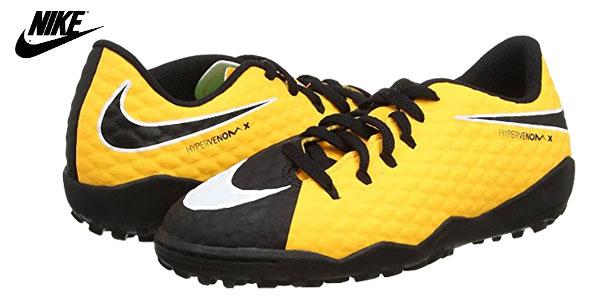 Zapatillas de fútbol unisex Nike Jr. Hypervenomx Phelon III TF baratas en Amazon