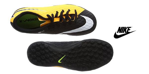 Zapatillas de fútbol unisex Nike Jr. Hypervenomx Phelon III TF chollo en Amazon