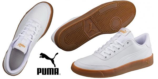 Zapatillas Puma Court Breaker unisex de color blanco para adulto baratas