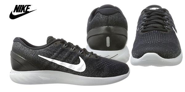 Zapatillas Running Nike Lunarglide 9 en color negro para hombre chollazo en Amazon