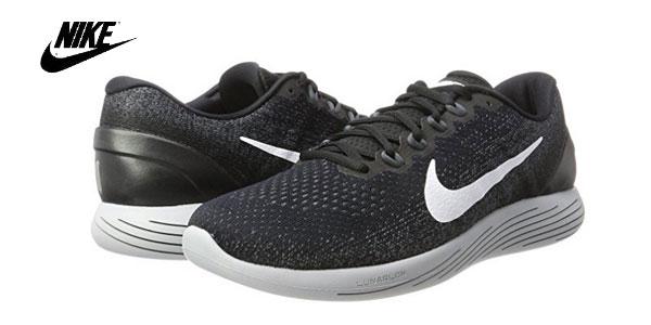 Zapatillas Running Nike Lunarglide 9 en color negro para hombre baratas en Amazon