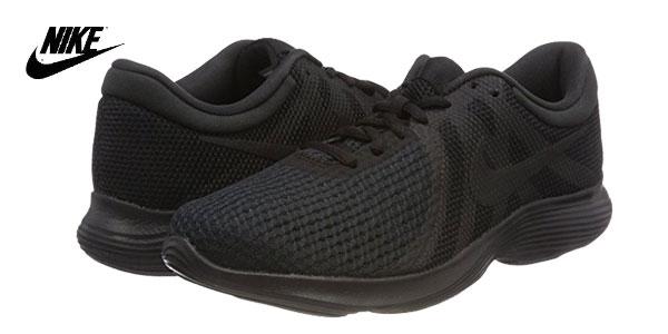 Zapatillas running Nike Wmns Revolution 4 EU en color negro para mujer baratas en Amazon