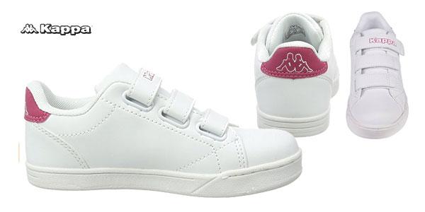 Zapatillas unisex Kappa Court en color blanco y rojo para niñ@s chollazo en Amazon