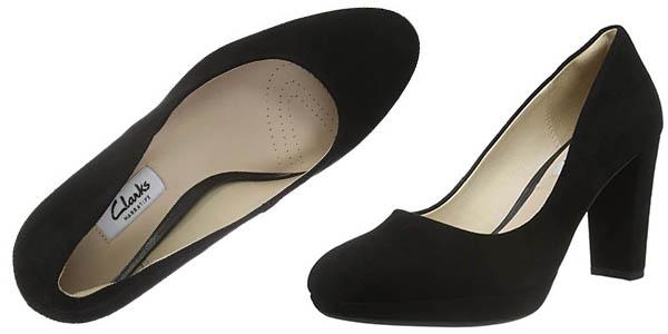 zapatos Clarks Kendra Sienna de tacón cómodos