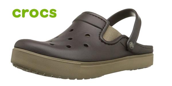 Zuecos unisex Crocs Citilane Clog en color marrón baratos en Amazon