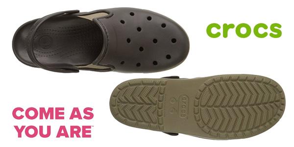 Zuecos unisex Crocs Citilane Clog en color marrón chollazo en Amazon