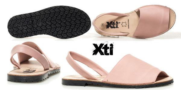 Abarcas de piel Binigaus Xti en cinco colores para mujer chollazo en eBay