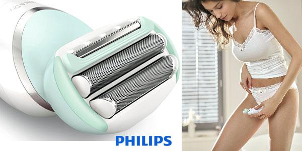 Afeitadora eléctrica sin cable femenina Philips SatinShave BRL160/00 en seco o mojado chollo en Amazon
