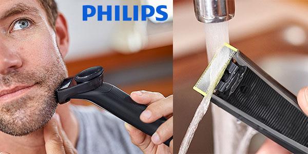 Afeitadora y recortadora de precisión Philips OneBlade Pro QP6510/30 Wet&Dry recargable barata