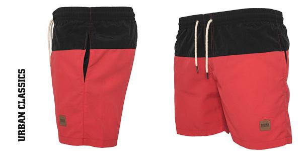 Bañador Urban Classics Block Swim Shorts para hombre chollazo en Amazon