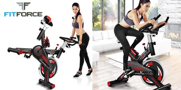 Bicicleta estática Fit-Force X24KG con volante de inercia de 24kg chollazo en eBay