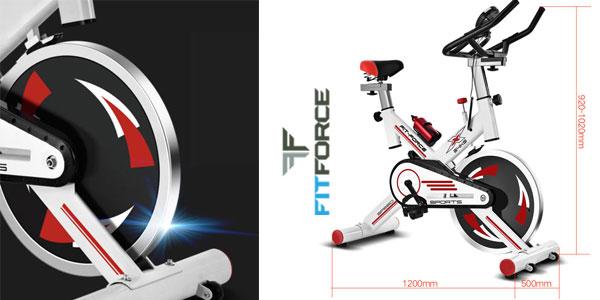 Bicicleta estática Fit-Force X24KG con volante de inercia de 24kg chollo en eBay