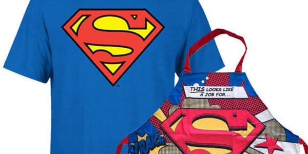 camiseta y delantal de Superman con licencia oficial DC Comics en oferta