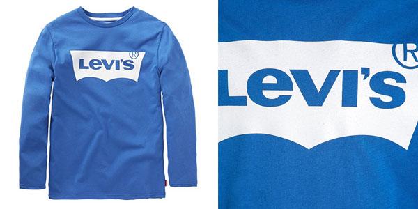 Camiseta Levi's N91005H en color azul en tallas infantiles chollo en Amazon