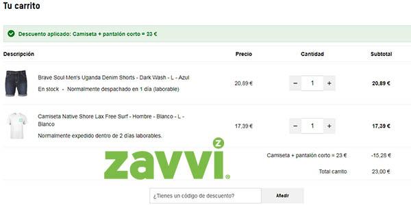 camiseta y pantalón corto para hombre en ofertas de Zavvi de primeras marcas