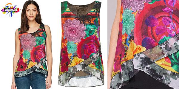 Camiseta sin mangas Desigual Staicy para mujer barata