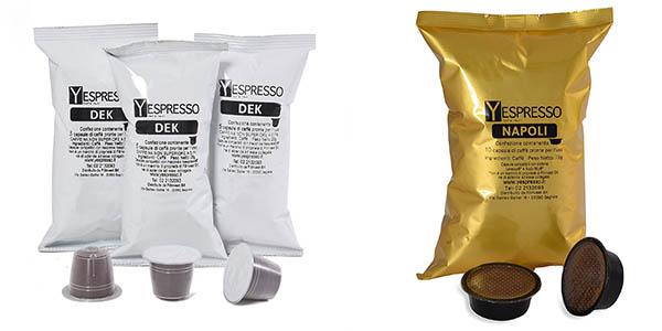 cápsulas de café compatibles con máquinas Nespresso y Dolce Gusto en oferta