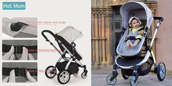 silla de paseo infantil Hot Mum Multi imitación lograda de la Bugaboo Camaleon en oferta