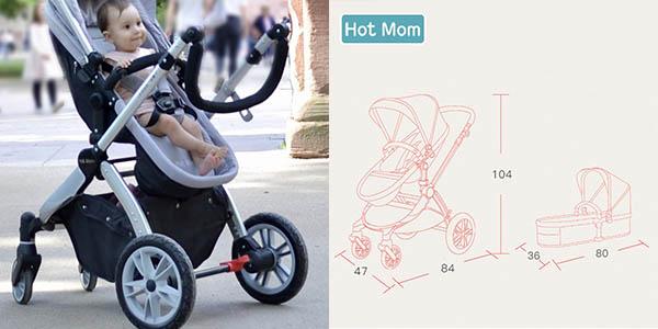 carrito de paseo para bebé ajustable en altura y con varias posiciones con genial relación calidad-precio